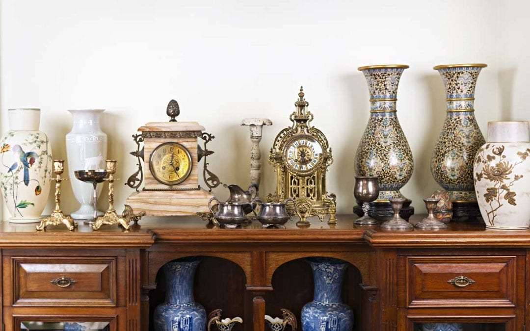 Antique vases and clocks in Seattle